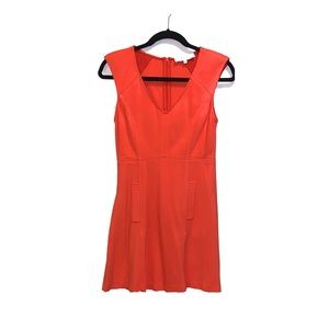 Tibi Red Fitted Knit Pocket Dress xs GREAT HOT